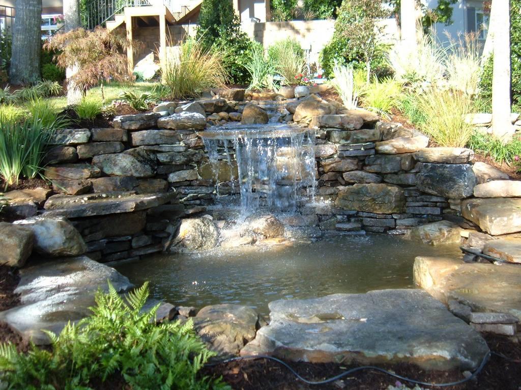 Картинки водопад во дворе